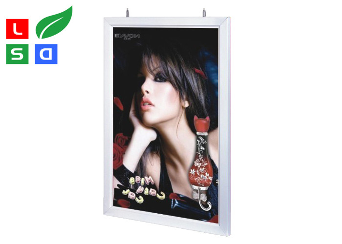 2 Sides LED Slimline Light Box Snap Frame With Steel Wire Hanging ...